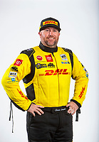 Feb 6, 2020; Pomona, CA, USA; NHRA top fuel driver Shawn Langdon poses for a portrait during NHRA Media Day at the Pomona Fairplex. Mandatory Credit: Mark J. Rebilas-USA TODAY Sports