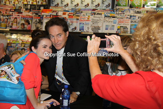 "Days Of Our Lives -Drake Hogestyn and fans as they sign ""Days Of Our Lives Better Living"" on September 27, 2013 at Books-A-Million in Nashville, Tennessee. (Photo by Sue Coflin/Max Photos)"
