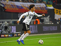 Leroy Sane (Deutschland Germany) - 15.11.2018: Deutschland vs. Russland, Red Bull Arena Leipzig, Freundschaftsspiel DISCLAIMER: DFB regulations prohibit any use of photographs as image sequences and/or quasi-video.