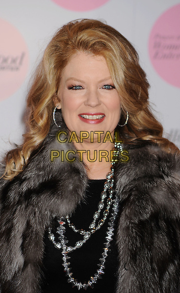 MARY HART .arriving at The Hollywood Reporter's Power 100: Women In Entertainment Breakfast at Beverly Hills Hotel in Beverly Hills, California, USA, .December 7th, 2010..portrait headshot grey gray gilet sleeveless fur black necklace beads silver .CAP/ROT/TM.©TM/RothStock//Capital Pictures