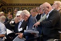 Yale Glee Club 155th Anniversary Celebration 1861-2016. TTBB Alumni Chorus Rehearsal at Woolsey Hall 29 October 2016