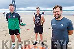 Taking part in the Comfort for Chemo Beach Fitness Class fundraiser on Banna Beach on Saturday.<br />  Front right: Sean O'Connor.<br /> Back l to r: James Hazlett and Des Renehan.