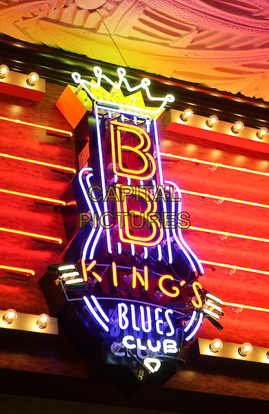 ATMOSPHERE .Grand Opening of BB King Blues Club inside the Mirage Resort Hotel and Casino,  Las Vegas, Nevada, USA, 11th December 2009..lights sign illuminated.CAP/ADM/MJT.©MJT/Admedia/Capital Pictures
