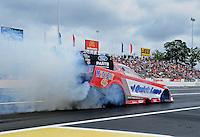 Jun. 1, 2012; Englishtown, NJ, USA: NHRA funny car driver Bob Tasca III during qualifying for the Supernationals at Raceway Park. Mandatory Credit: Mark J. Rebilas-