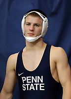 PHILADELPHIA, PA - NOVEMBER 18: Jason Nolf of the Penn State Nittany Lions before wrestling a match at the Keystone Classic on November 18, 2018 at The Palestra on the campus of the University of Pennsylvania in Philadelphia, Pennsylvania. (Photo by Hunter Martin/Getty Images) *** Local Caption *** Jason Nolf