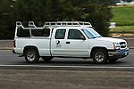Chevy work truck with lumber rack.