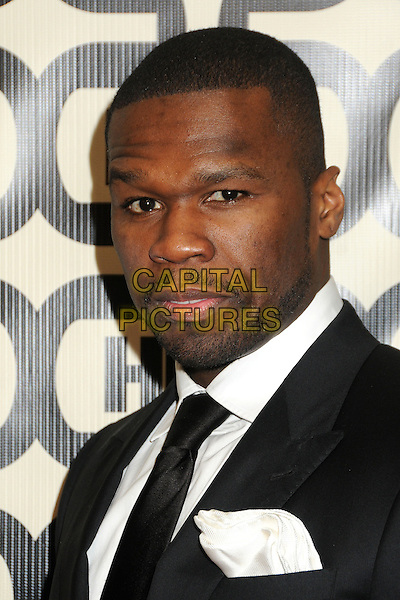 Curtis Jackson, 50 Cent.HBO's 70th Annual Golden Globes After Party held at Circa 55 Restaurant, Beverly Hills, California, USA..January 13th, 2013.globe headshot portrait black white tie stubble beard facial hair suit.CAP/ADM/BP.©Byron Purvis/AdMedia/Capital Pictures.