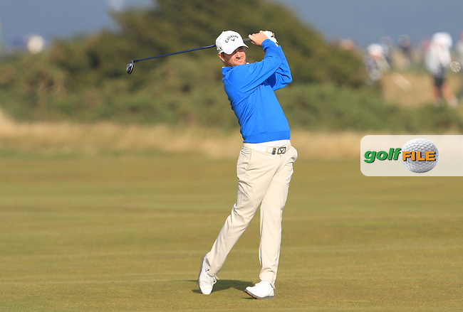 Marc Warren (ENG) on the 14th fairway during Round 4 of the 2015 Alfred Dunhill Links Championship at the Old Course in St. Andrews in Scotland on 4/10/15.<br /> Picture: Thos Caffrey | Golffile