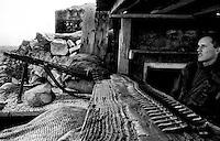 "Balkan War: Machine Gun Shelter on frontline. called ""House of Dark"", Zadar, Croatia 1991"