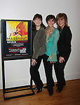 """Opening Night at theater - As the World Turns' Colleen Zenk along with Eliza Ventura (R)  and Meghan Duffy star in """"Marrying George Clooney: Confessions from a Midlife Crisis"""" on March 1, 2012 at Cap21 America's Musical Theatre Conservatory & Theatre Company, New York City, New York.  (Photo by Sue Coflin/Max Photos)"""