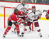 Kenny Gillespie (RPI - 8), Merrick Madsen (Harvard - 31), Clay Anderson (Harvard - 5) - The Harvard University Crimson defeated the visiting Rensselaer Polytechnic Institute Engineers 5-2 in game 1 of their ECAC quarterfinal series on Friday, March 11, 2016, at Bright-Landry Hockey Center in Boston, Massachusetts.