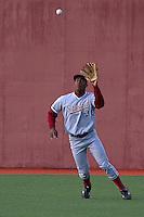 PULLMAN, WA-April 2, 2011:  Stanford player Austin Wilson in a game against Washington State University in Pullman, Washington.  Stanford won the game 22-3.