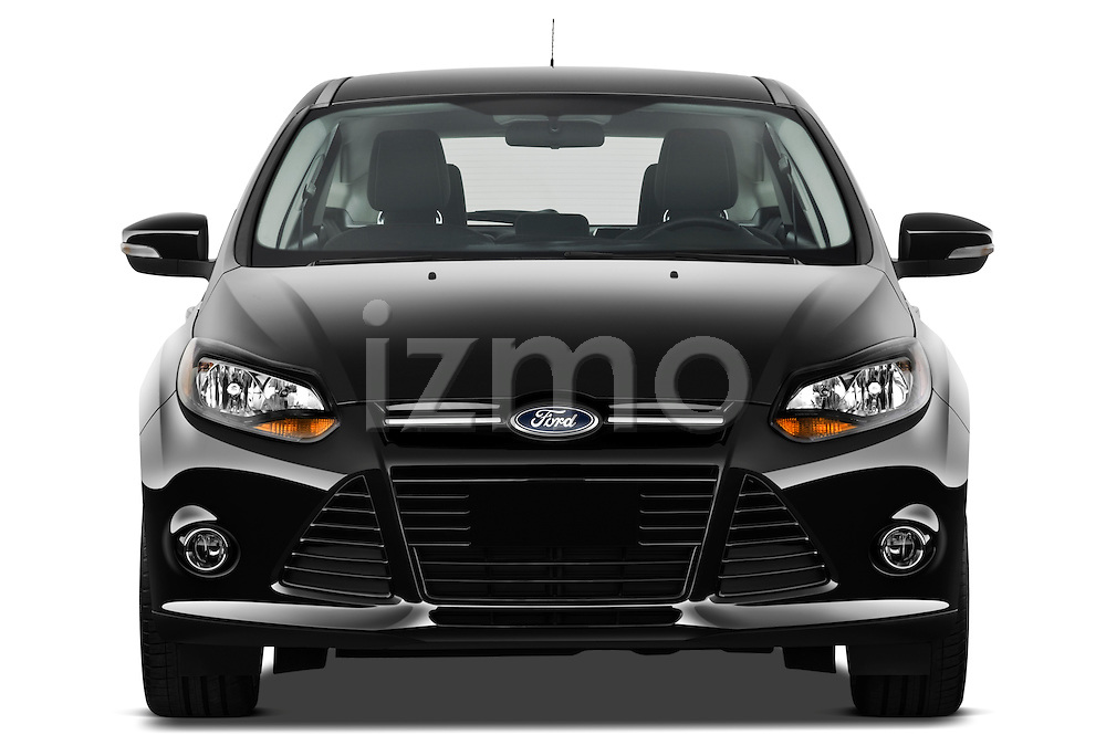 Straight front view of a 2012 Ford Focus Hatchback Titanium Stock Photo