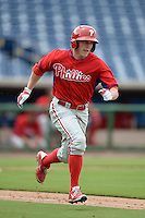 Philadelphia Phillies outfielder Venn Biter (28) during an Instructional League game against the New York Yankees on September 23, 2014 at the Bright House Field in Clearwater, Florida.  (Mike Janes/Four Seam Images)