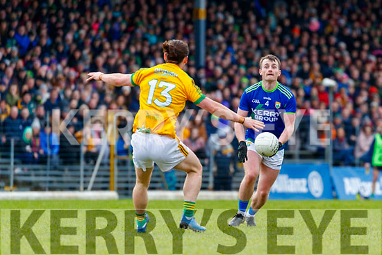 Tom O'Sullivan, Kerry in action against Cillian O'Sullivan, Meath during the Allianz Football League Division 1 Round 4 match between Kerry and Meath at Fitzgerald Stadium in Killarney, on Sunday.