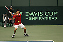 Go Soeda (JPN), FEBRUARY 10, 2012 - Tennis : Davis Cup 2012, World Group First Round match Japan 1-1 Croatia at Bourbon Beansdome, Hyogo, Japan. (Photo by Akihiro Sugimoto/AFLO SPORT) [1080]
