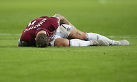 West Ham United's Marko Arnautovic on the ground with a hamstring injury<br /> <br /> Photographer Rob Newell/CameraSport<br /> <br /> The Premier League - West Ham United v Cardiff City - Tuesday 4th December 2018 - London Stadium - London<br /> <br /> World Copyright © 2018 CameraSport. All rights reserved. 43 Linden Ave. Countesthorpe. Leicester. England. LE8 5PG - Tel: +44 (0) 116 277 4147 - admin@camerasport.com - www.camerasport.com