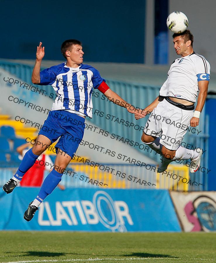 Fudbal, Jelen liga, sezona 2011/12.OFK Beograd vs. Rad.Tomislav Pajovic, right.Belgrade, 11.09.2011..foto: Srdjan Stevanovic/Starsportphoto ©