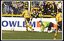 06/04/2002                 Copyright Pic : James Stewart .Ref :     .File Name : stewart-alloa v qos   10.QUEEN OF THE SOUTH KEEPER COLIN SCOTT IS STRANDED AS GARETH HUTCHISON KNOCKS THE BALL INTO THE EMPTY NET FOR ALLOA'S FIRST GOAL....James Stewart Photo Agency, 19 Carronlea Drive, Falkirk. FK2 8DN      Vat Reg No. 607 6932 25.Office     : +44 (0)1324 570906     .Mobile  : + 44 (0)7721 416997.Fax         :  +44 (0)1324 630007.E-mail  :  jim@jspa.co.uk.If you require further information then contact Jim Stewart on any of the numbers above.........