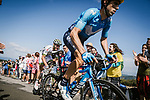 Imanol Erviti (ESP) Movistar Team part of the breakaway group during Stage 15 of the 2018 Tour de France running 181.5km from Millau to Carcassonne, France. 22nd July 2018. <br /> Picture: ASO/Pauline Ballet | Cyclefile<br /> All photos usage must carry mandatory copyright credit (&copy; Cyclefile | ASO/Pauline Ballet)