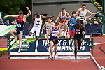 EUGENE, OR - JUNE 09: Edwin Kibichiy of the University of Louisville competes in the 3000 meter steeplechase during the Division I Men's Outdoor Track & Field Championship held at Hayward Field on June 9, 2017 in Eugene, Oregon. Kibichiy won the event with a 8:28.40 time. (Photo by Jamie Schwaberow/NCAA Photos via Getty Images)