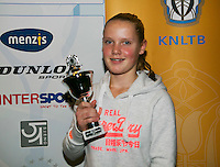 01-12-13,Netherlands, Almere,  National Tennis Center, Tennis, Winter Youth Circuit, Girls 16 years , 5 th place: Suzan Lamens  <br /> Photo: Henk Koster