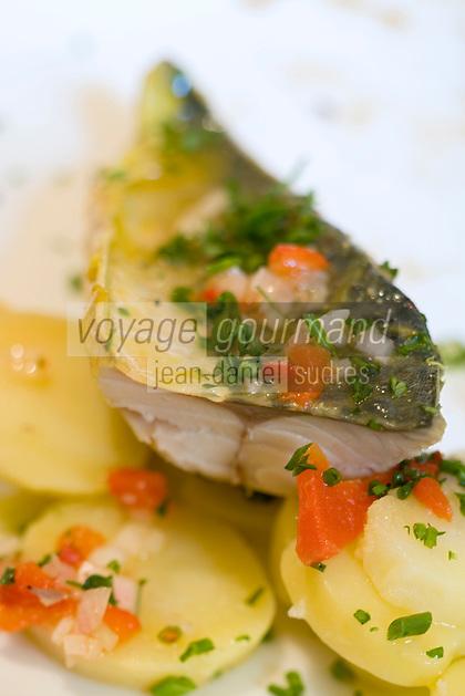 """Europe/France/Bretagne/56/Morbihan/Vannes: Maquereau mariné recette de Jean-Marc Lucas chef du Restaurant """"La Table de Jeanne"""""""