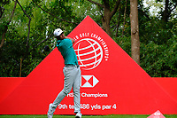 Tony Finau (USA) on the 9th tee  during the 1st round at the WGC HSBC Champions 2018, Sheshan Golf Club, Shanghai, China. 25/10/2018.<br />