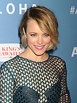 WEST HOLLYWOOD, CA - MAY 27: Actress Rachel McAdams attends the 'Aloha' Los Angeles premiere at The London Hotel West Hollywood on May 27, 2015 in West Hollywood, California.