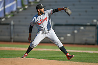 Soid Marquez (53) of the Billings Mustangs delivers a pitch to the plate against the Ogden Raptors in Pioneer League action at Lindquist Field on August 14, 2016 in Ogden, Utah. Ogden defeated Billings 15-9. (Stephen Smith/Four Seam Images)
