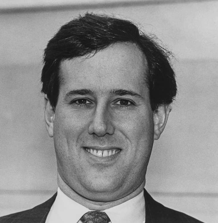 Sen. Rick Santorum, R-Pa., on March 9, 1992. (Photo by Chris Ayers/CQ Roll Call via Getty Images)