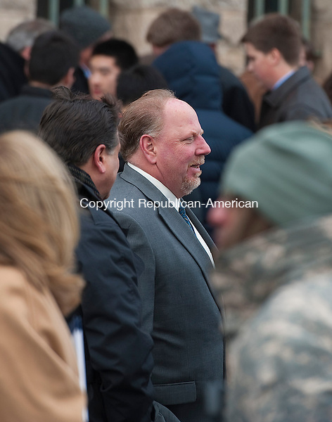 HARTFORD,  CT-010715JS08- Wolcott Mayor Thomas Dunn was one of the local officials on hand during the Gubernatorial Inauguration Ceremony Wednesday at the State Armory in Hartford. <br />  Jim Shannon Republican-American