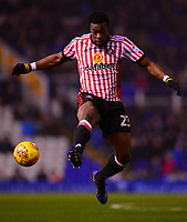 Lamine Kone of Sunderland controls the ball in the air during the Sky Bet Championship match between Birmingham City and Sunderland at St Andrews, Birmingham, England on 30 January 2018. Photo by Bradley Collyer / PRiME Media Images.