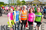 L-R Laura, Paul, Dave and Sean Herlihy and Marie Shannon picture at the start line of Joan Herlihy Memorial Cycle in the Torc Hotel, Killarney last Sunday morning.