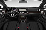 Stock photo of straight dashboard view of a 2019 Mercedes Benz E-class 300 4 Door Sedan
