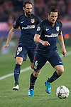 Atletico de Madrid's Koke and Juanfran during Champions League 2015/2016 Quarter-Finals 2nd leg match. April 13, 2016. (ALTERPHOTOS/BorjaB.Hojas)