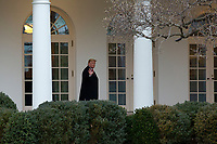 United States President Donald J. Trump gestures to members of the media at the White House in Washington D.C., U.S. as he and First lady Melania Trump depart to attend the College Football Playoff National Championship in New Orleans, Louisiana on Monday, January 13, 2020.  The Senate is set to begin his impeachment trial later this week, after Speaker of the United States House of Representatives Nancy Pelosi (Democrat of California) faced increased pressure to send over the two articles of impeachment. <br /> CAP/MPI/RS<br /> ©RS/MPI/Capital Pictures