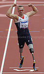 Paralympics London 2012 - ParalympicsGB - Athletics held at the Olympic Stadium 1st September 2012  .Richard Whitehead competes in the the Men's 200m - T42 Final at the Paralympic Games in London. Photo: Richard Washbrooke/ParalympicsGB