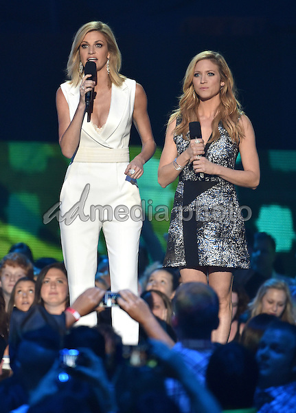 10 June 2015 - Nashville, Tennessee - Erin Andrews, Brittany Snow. 2015 CMT Music Awards held at Bridgestone Arena. Photo Credit: Laura Farr/AdMedia