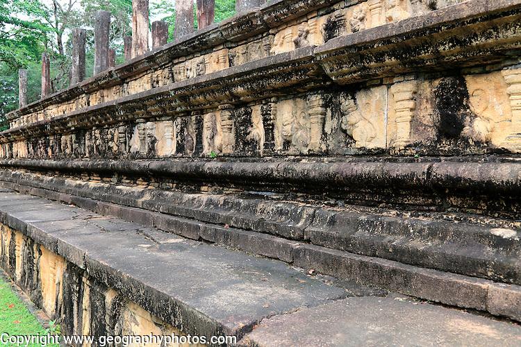 Council Chamber, Citadel, UNESCO World Heritage Site, the ancient city of Polonnaruwa, Sri Lanka, Asia