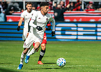WASHINGTON, DC - FEBRUARY 29: Younes Namli #21 of the Colorado Rapids moves up field during a game between Colorado Rapids and D.C. United at Audi Field on February 29, 2020 in Washington, DC.