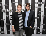 Eddie Perfect and Alex Timbers attends Broadway's 'Beetlejuice' - First Look Photo Call at Subculture  on February 28, 2019 in New York City.