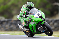 PHILLIP ISLAND, 22 FEBRUARY - Akira Yanagawa (JPN) riding the Kawasaki ZX-10R (6) of the Kawasaki Racing Team at day two of the testing session prior to round one of the 2011 FIM Superbike World Championship at Phillip Island, Australia. (Photo Sydney Low / syd-low.com)