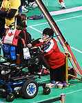 Marylou Martineau competes in  Boccia at the 2019 ParaPan American Games in Lima, Peru-1aug2019-Photo Scott Grant
