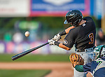 12 July 2015: West Virginia Black Bears outfielder Casey Hughston, a third round draft pick for the Pittsburgh Pirates organization, in action against the Vermont Lake Monsters at Centennial Field in Burlington, Vermont. The Lake Monsters rallied to defeat the Black Bears 5-4 in NY Penn League action. Mandatory Credit: Ed Wolfstein Photo *** RAW Image File Available ****
