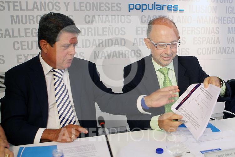 Federico Trillo y Cristobal Montoro durante el Comite Ejecutivo Nacional del PP..(ALTERPHOTOS/Acero).