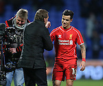 Brendan Rodgers manager of Liverpool congratulates Philippe Coutinho of Liverpool - FA Cup Fourth Round replay - Bolton Wanderers vs Liverpool - Macron Stadium  - Bolton - England - 4th February 2015 - Picture Simon Bellis/Sportimage