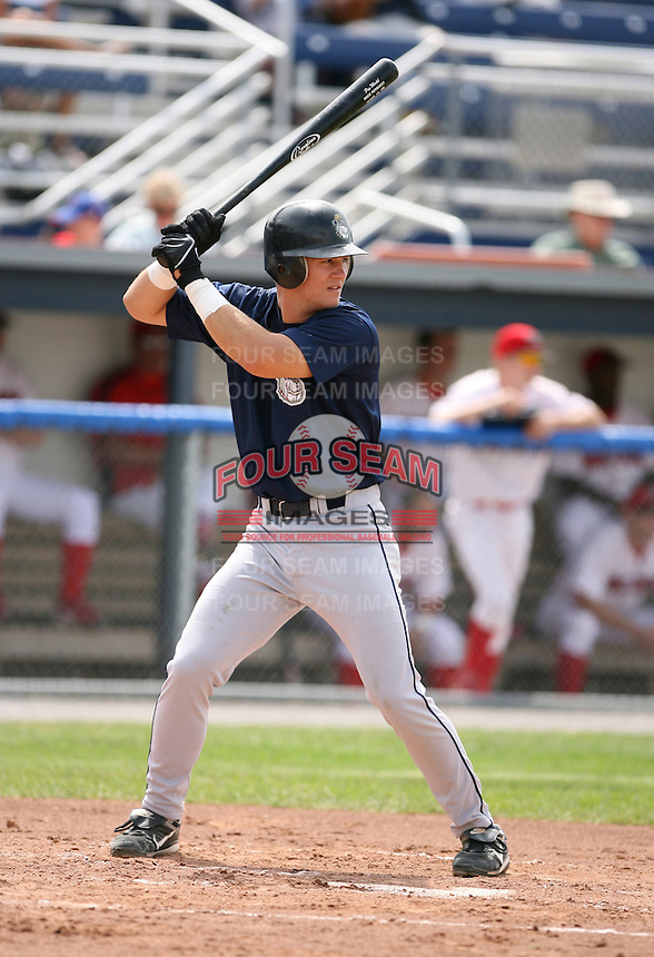 Nick Petrucci of the Mahoning Valley Scrappers, Class-A affiliate of the Cleveland Indians, during the New York-Penn League season.  Photo by:  Mike Janes/Four Seam Images