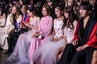 NEW YORK, NY - FEBRUARY 10:  Ella Richards, Alexandra Richards, Jiang Mengjie, Fu Wing, Rui, Susan Yuan attend the New York Fashion Week on February 10, 2019 in  New York. (Photo by Kena Betancur/VIEWpress)