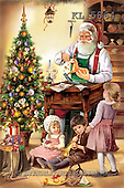 Interlitho, Patricia, CHRISTMAS SANTA, SNOWMAN, paintings, santa, kids, tree, KL5864,#X# Weihnachten, nostalgisch, Navidad, nostálgico, illustrations, pinturas